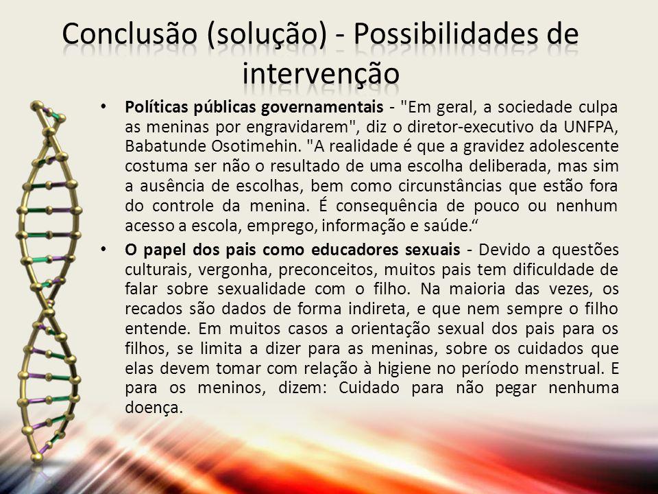 Conclusão (solução) - Possibilidades de intervenção