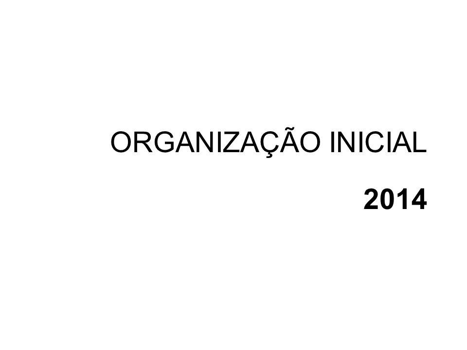 ORGANIZAÇÃO INICIAL 2014