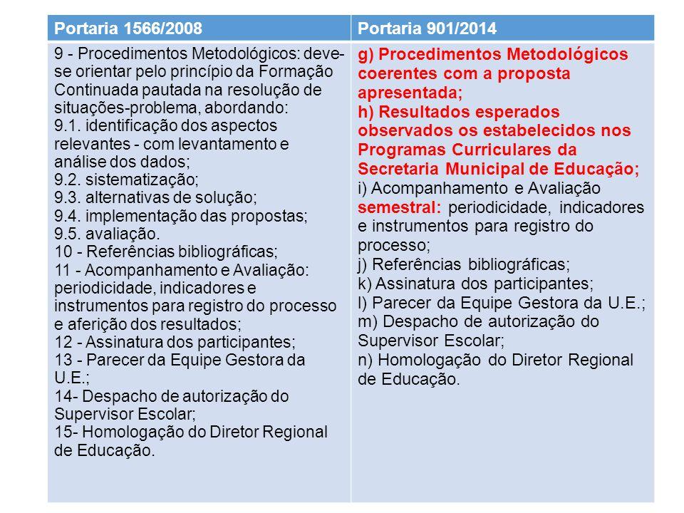g) Procedimentos Metodológicos coerentes com a proposta apresentada;