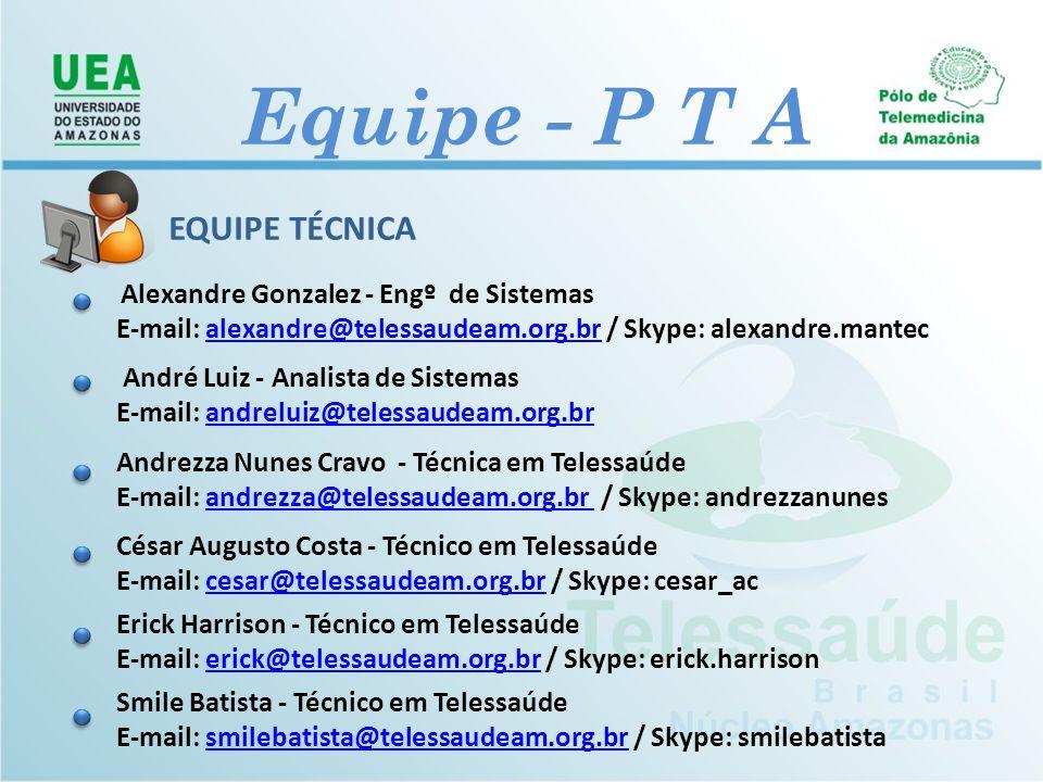 Equipe - P T A EQUIPE TÉCNICA