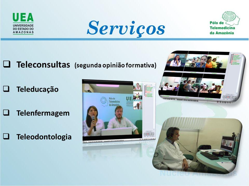 Serviços Teleconsultas (segunda opinião formativa) Teleducação
