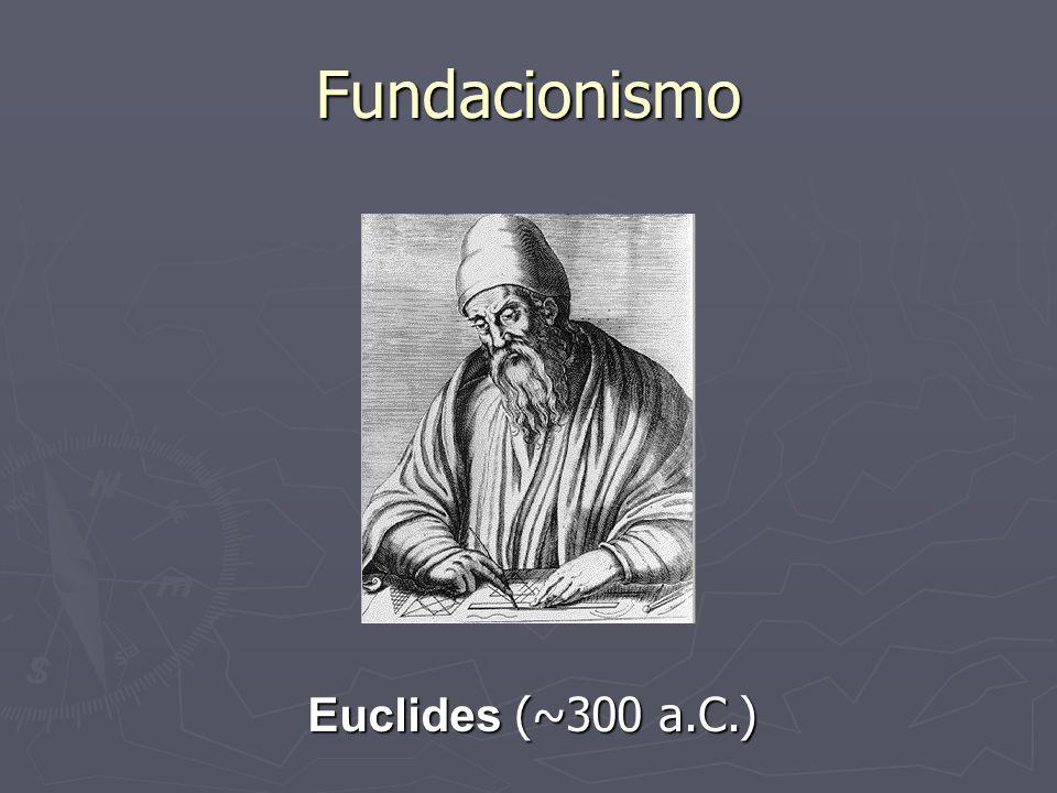 Fundacionismo Euclides (~300 a.C.)