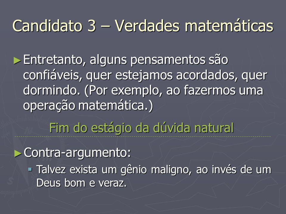 Candidato 3 – Verdades matemáticas