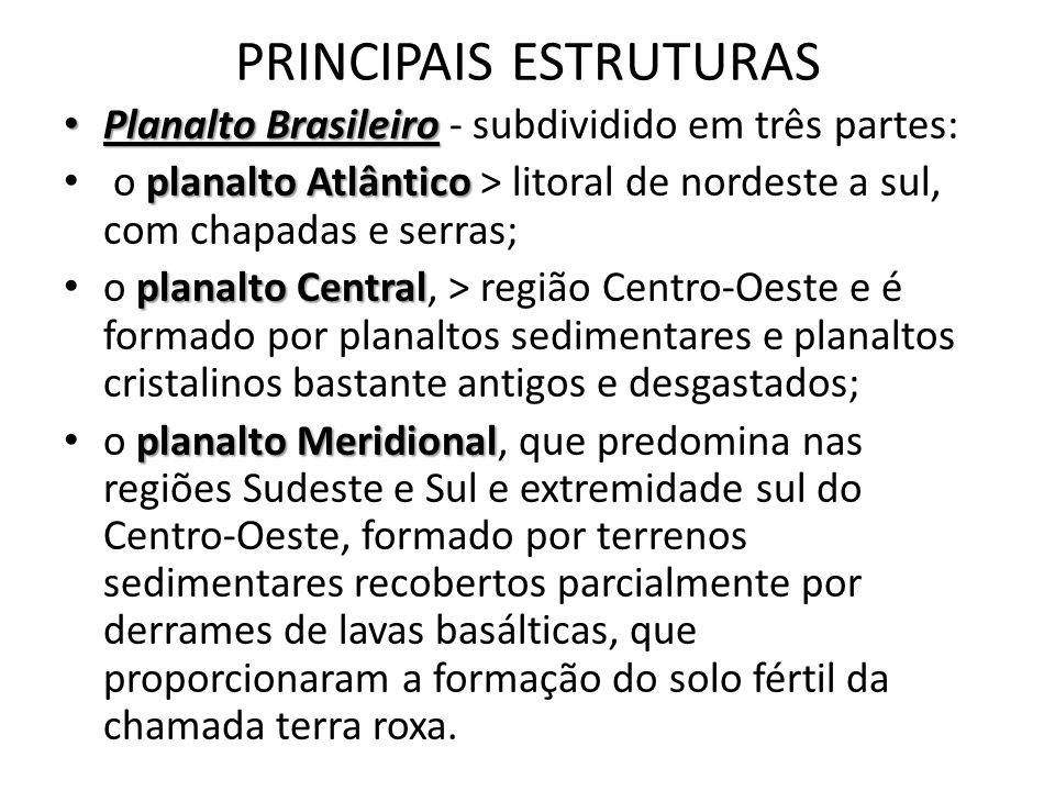 PRINCIPAIS ESTRUTURAS