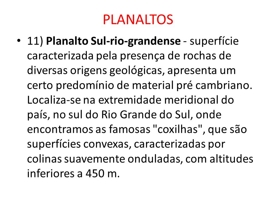 PLANALTOS