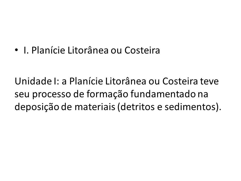 I. Planície Litorânea ou Costeira