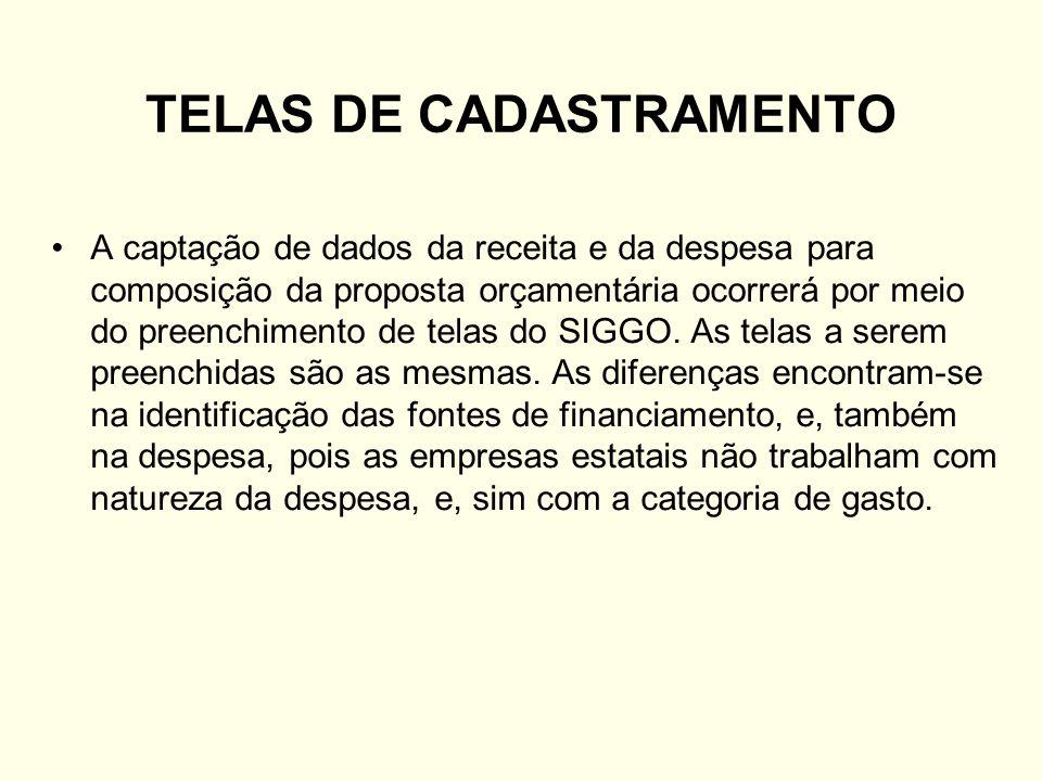 TELAS DE CADASTRAMENTO