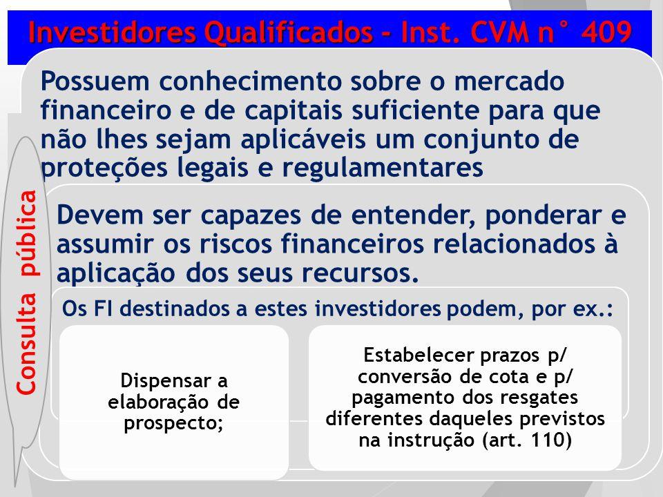 Investidores Qualificados - Inst. CVM n° 409