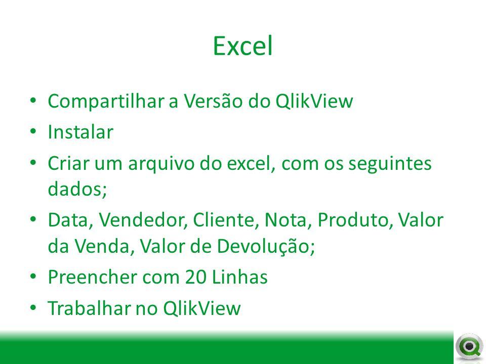 Excel Compartilhar a Versão do QlikView Instalar