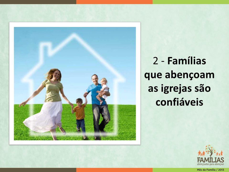 2 - Famílias que abençoam as igrejas são confiáveis