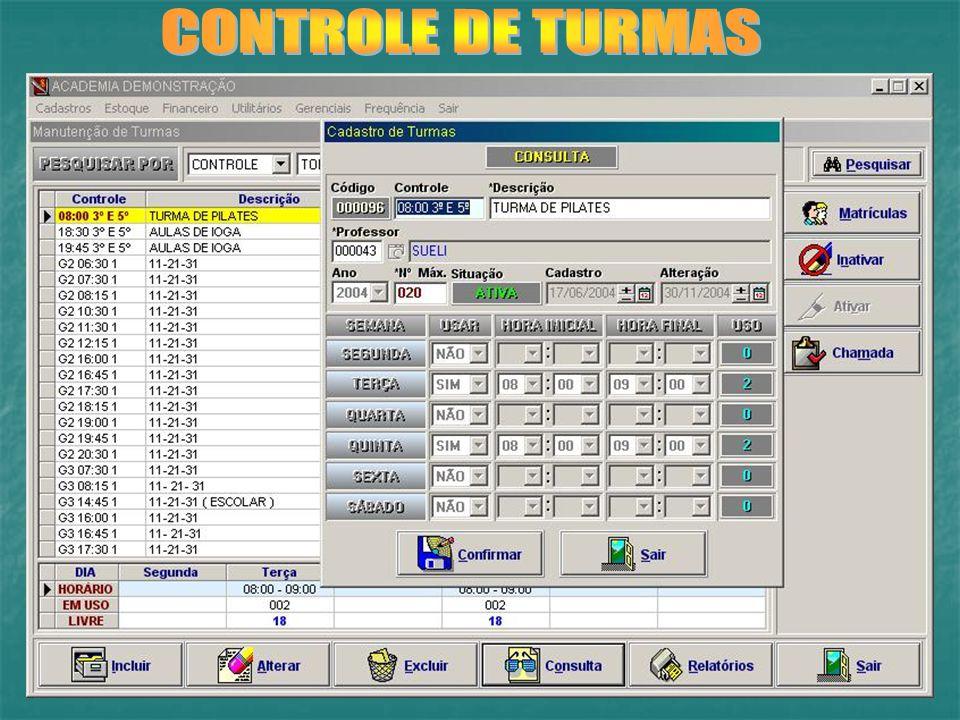 CONTROLE DE TURMAS