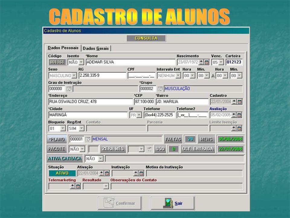 CADASTRO DE ALUNOS