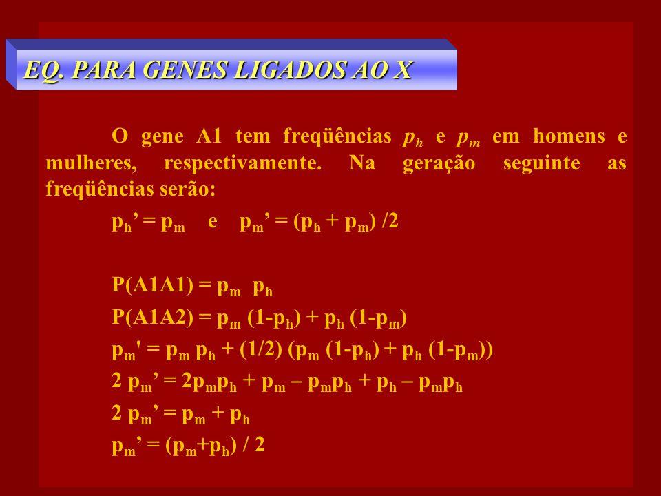 EQ. PARA GENES LIGADOS AO X