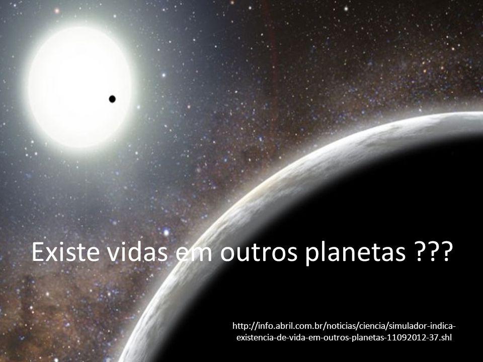 Existe vidas em outros planetas