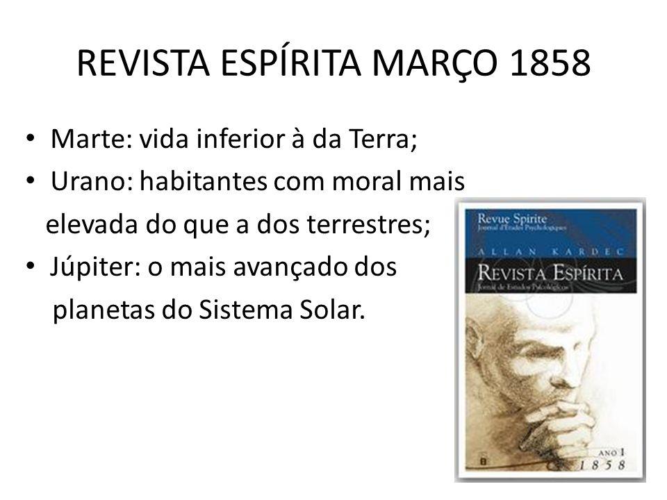 REVISTA ESPÍRITA MARÇO 1858
