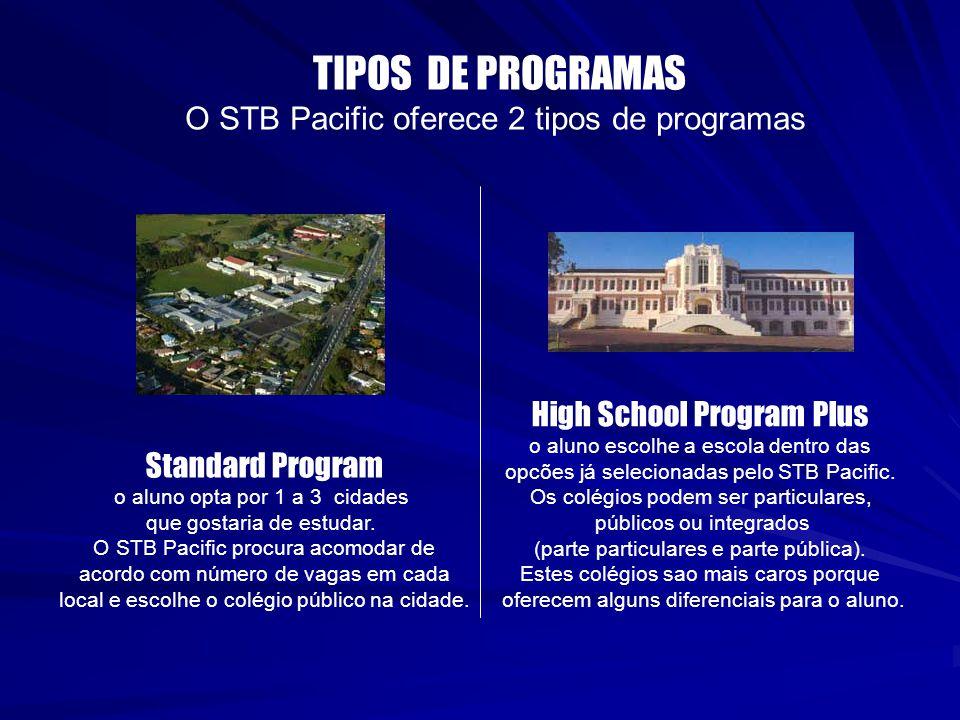 TIPOS DE PROGRAMAS O STB Pacific oferece 2 tipos de programas