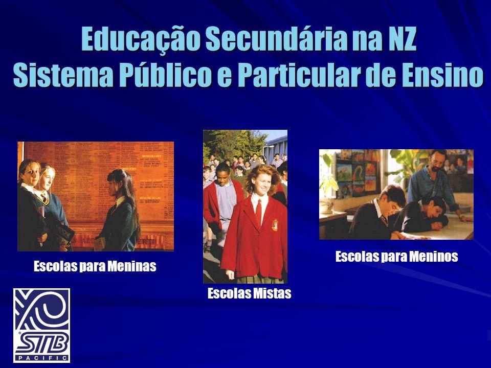 Educação Secundária na NZ Sistema Público e Particular de Ensino