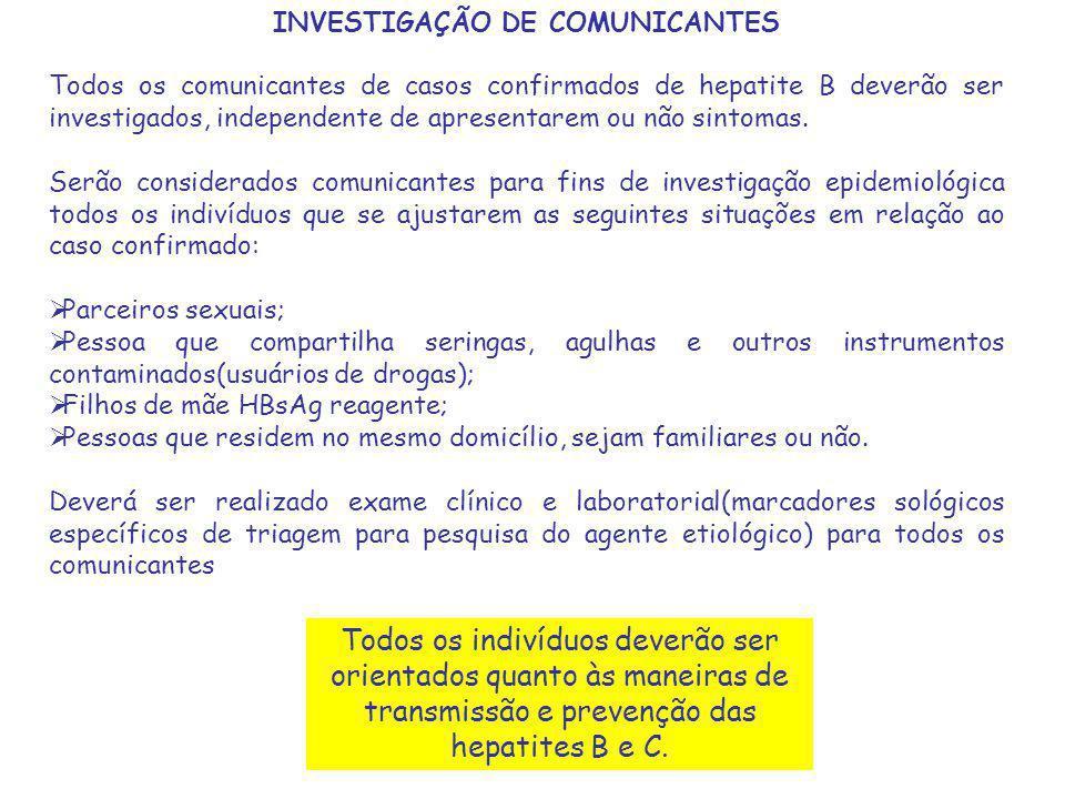 INVESTIGAÇÃO DE COMUNICANTES