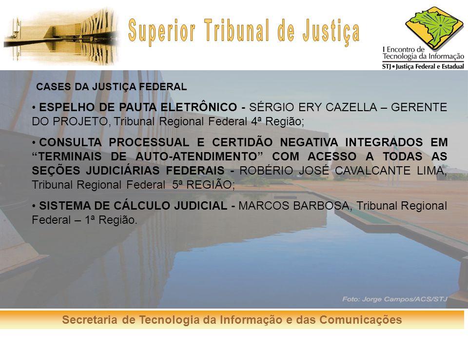 CASES DA JUSTIÇA FEDERAL