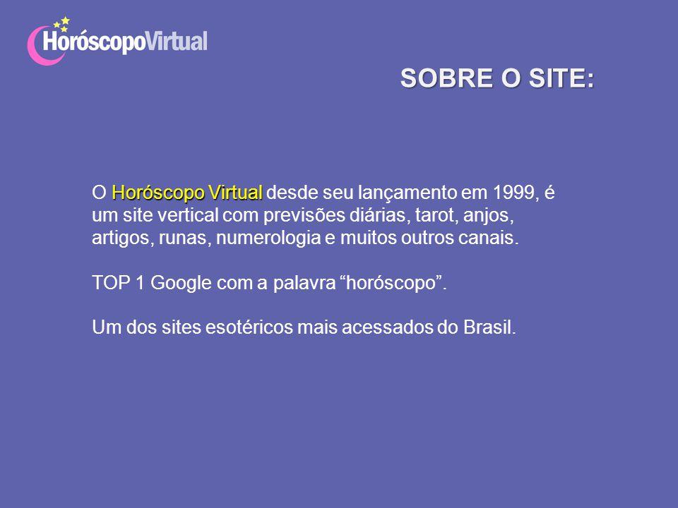 SOBRE O SITE: O Horóscopo Virtual desde seu lançamento em 1999, é um site vertical com previsões diárias, tarot, anjos,
