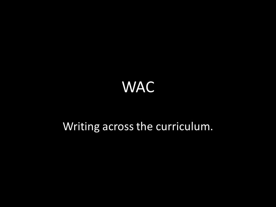 Writing across the curriculum.