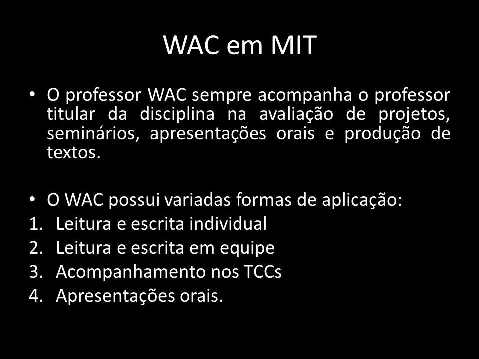 WAC em MIT