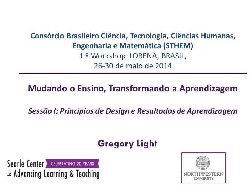 Gregory Light Mudando o Ensino, Transformando a Aprendizagem