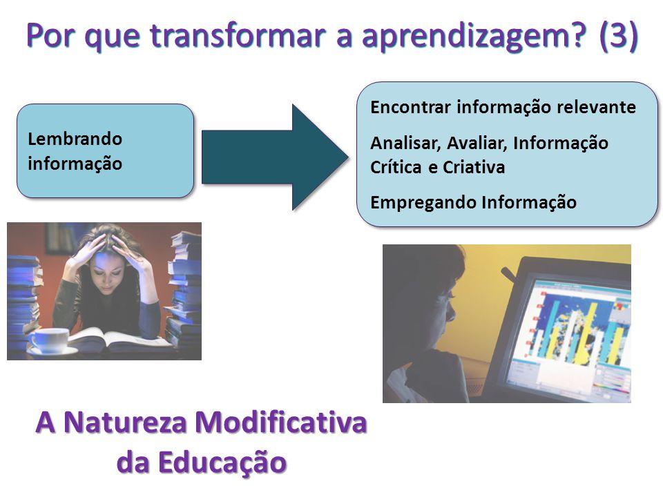 A Natureza Modificativa da Educação