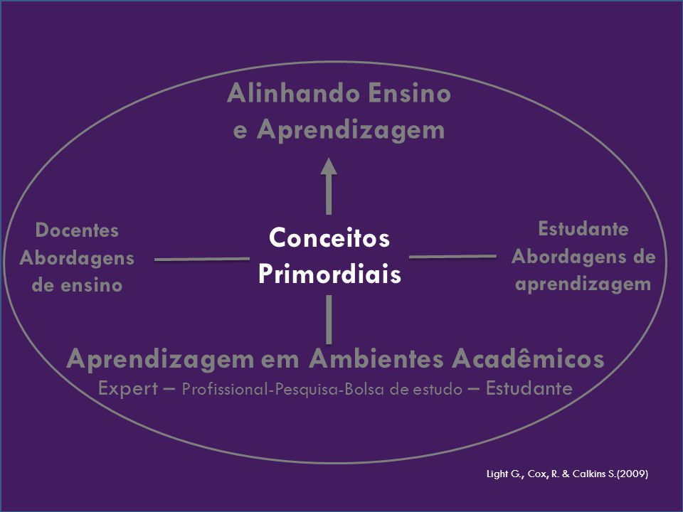 Abordagens de aprendizagem Conceitos Primordiais
