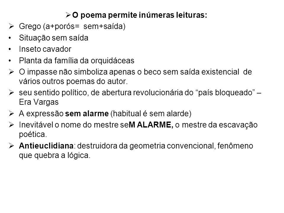 O poema permite inúmeras leituras: