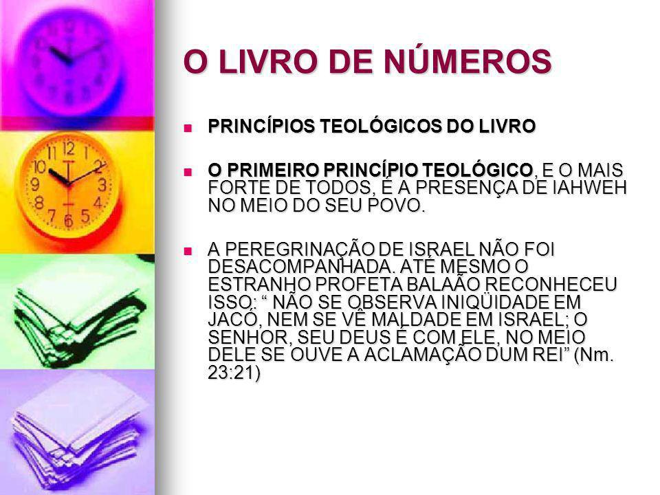 O LIVRO DE NÚMEROS PRINCÍPIOS TEOLÓGICOS DO LIVRO