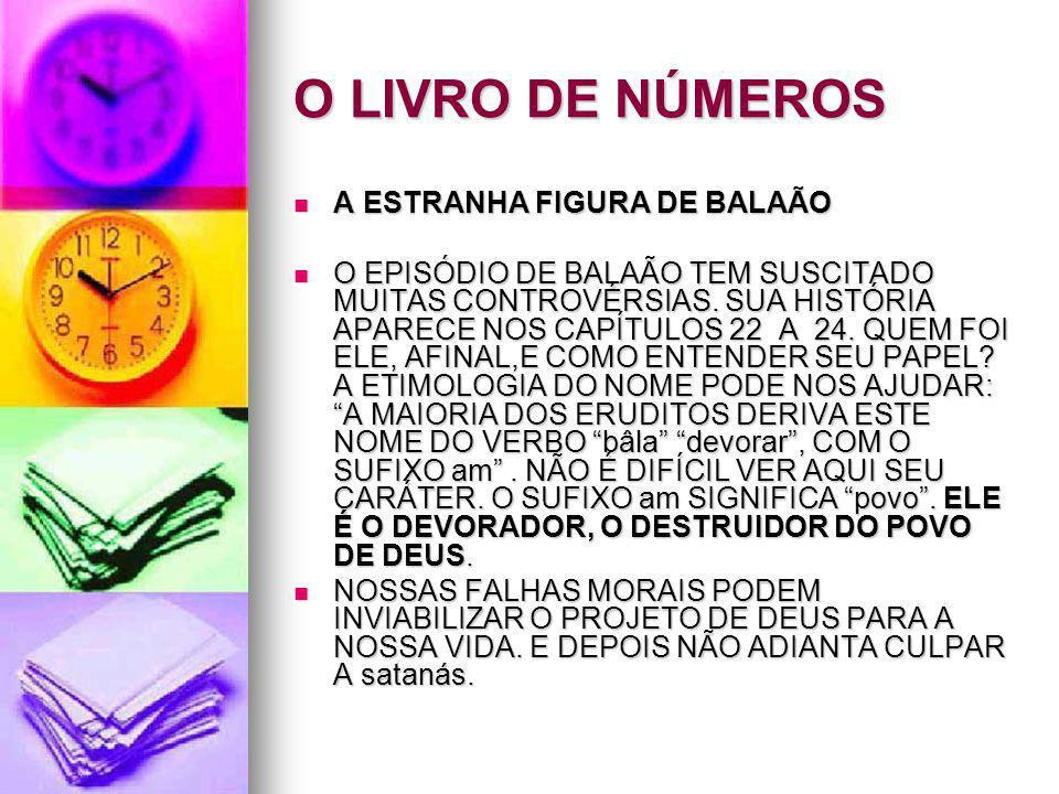 O LIVRO DE NÚMEROS A ESTRANHA FIGURA DE BALAÃO