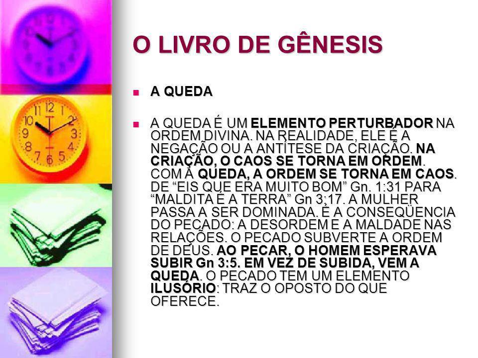 O LIVRO DE GÊNESIS A QUEDA