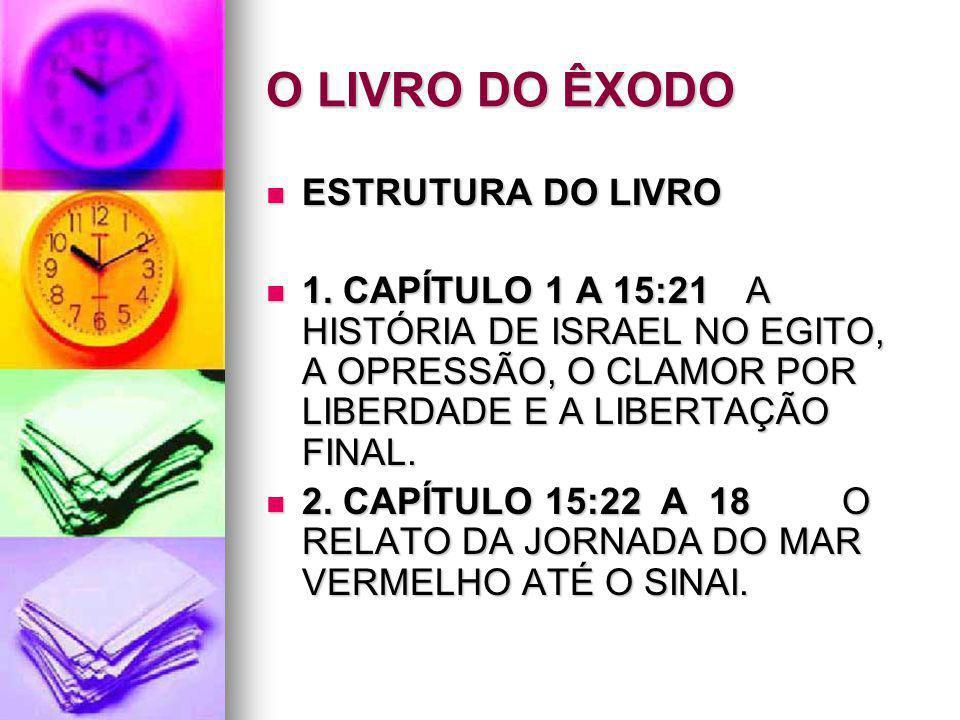 O LIVRO DO ÊXODO ESTRUTURA DO LIVRO