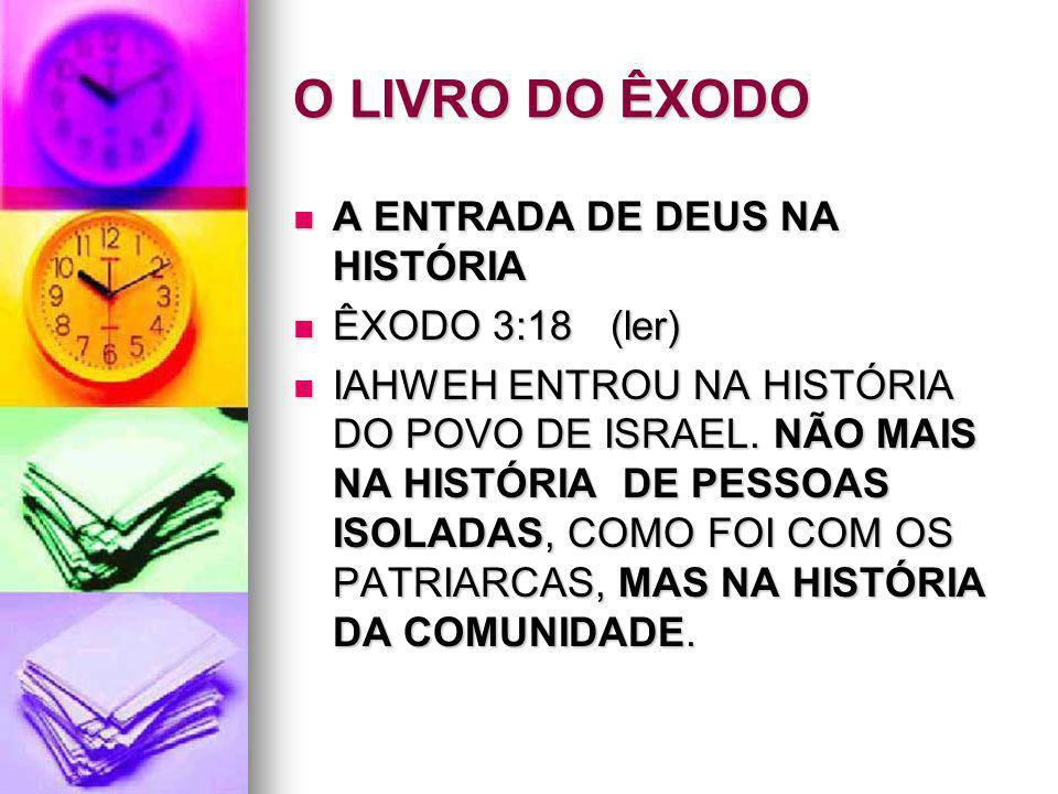 O LIVRO DO ÊXODO A ENTRADA DE DEUS NA HISTÓRIA ÊXODO 3:18 (ler)