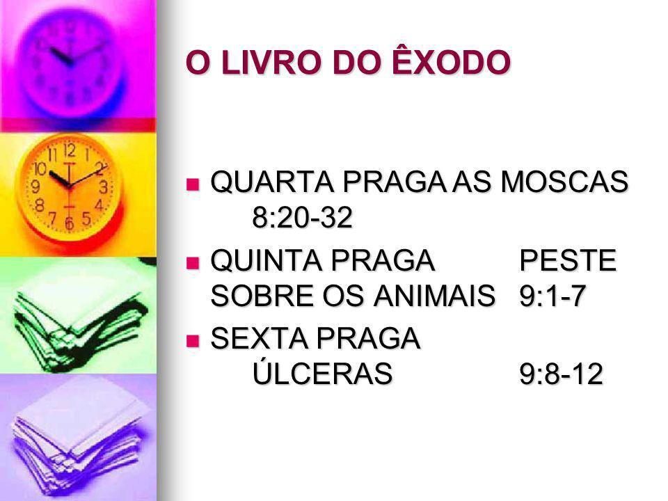 O LIVRO DO ÊXODO QUARTA PRAGA AS MOSCAS 8:20-32