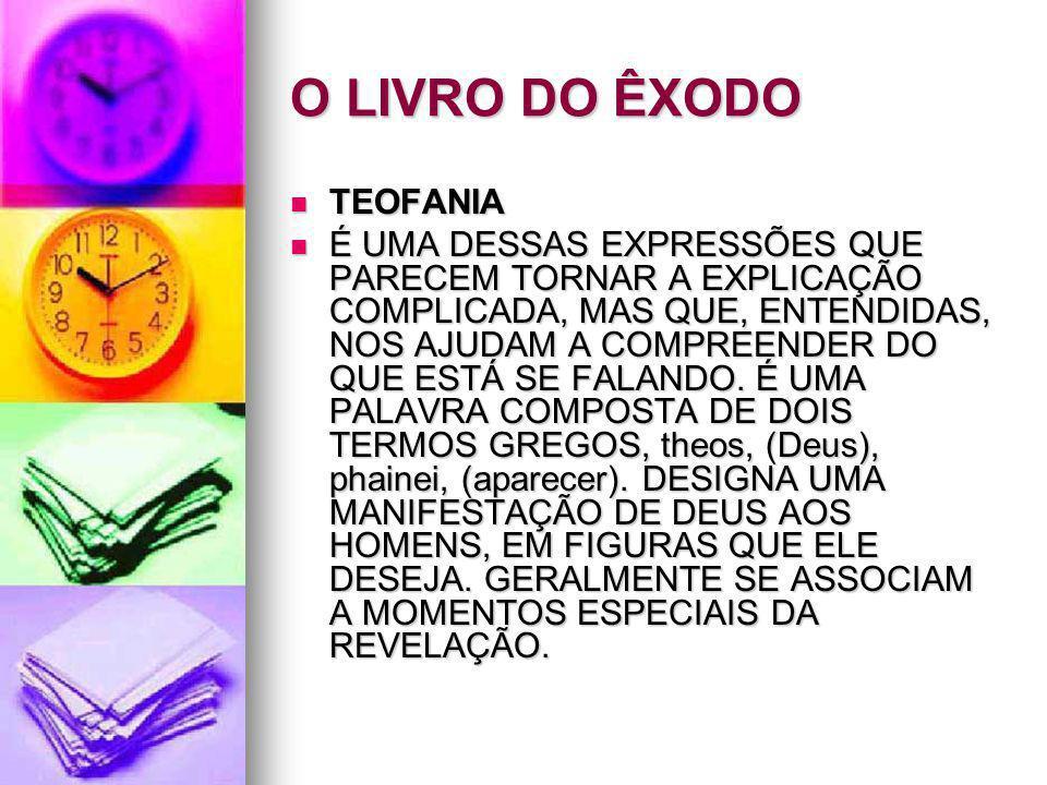 O LIVRO DO ÊXODO TEOFANIA