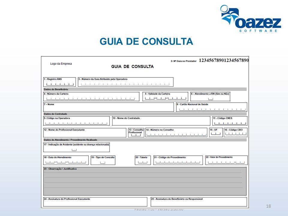 GUIA DE CONSULTA Padrão TISS - Versão 3.00.00