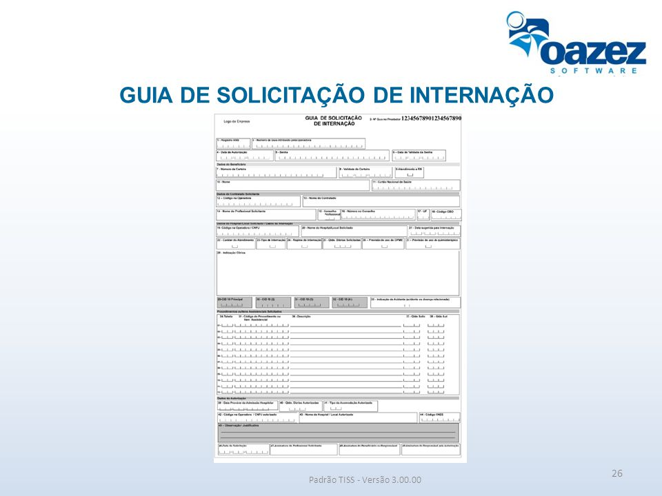 GUIA DE SOLICITAÇÃO DE INTERNAÇÃO