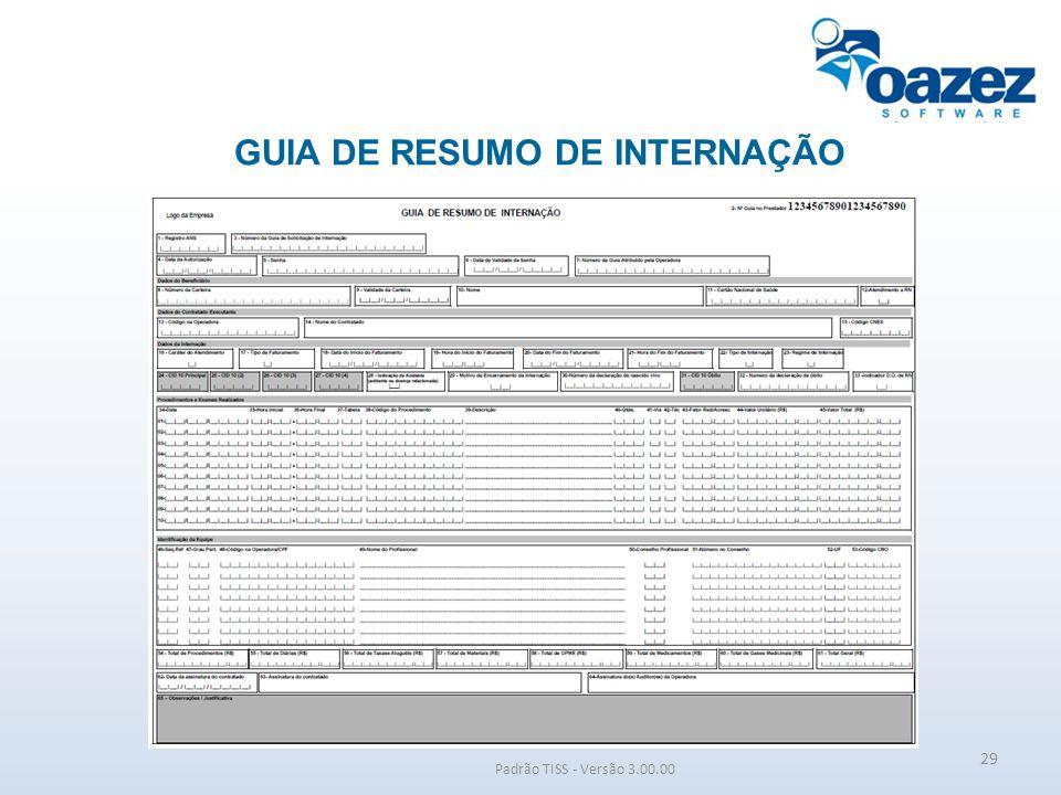 GUIA DE RESUMO DE INTERNAÇÃO