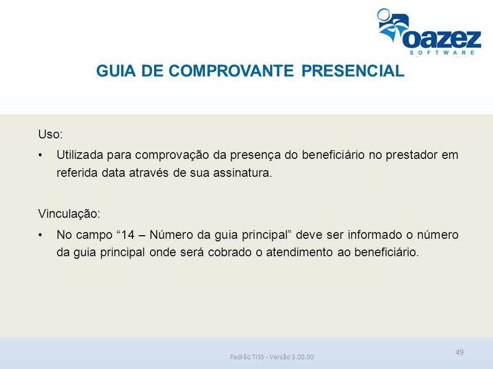 GUIA DE COMPROVANTE PRESENCIAL