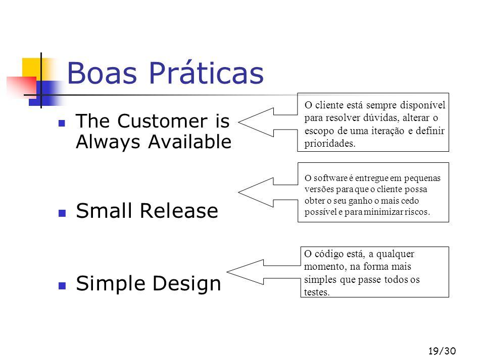 Boas Práticas Small Release Simple Design