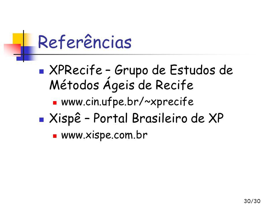 Referências XPRecife – Grupo de Estudos de Métodos Ágeis de Recife