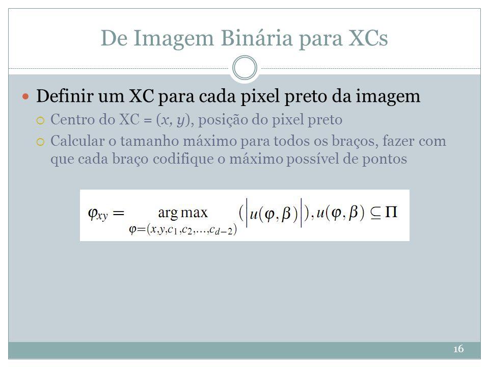 De Imagem Binária para XCs
