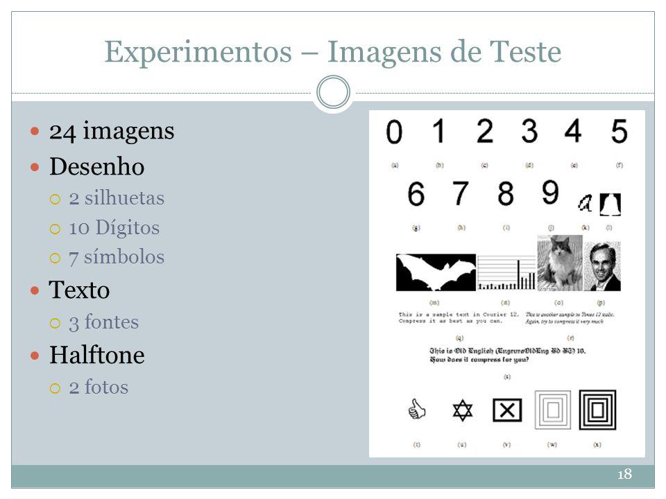 Experimentos – Imagens de Teste