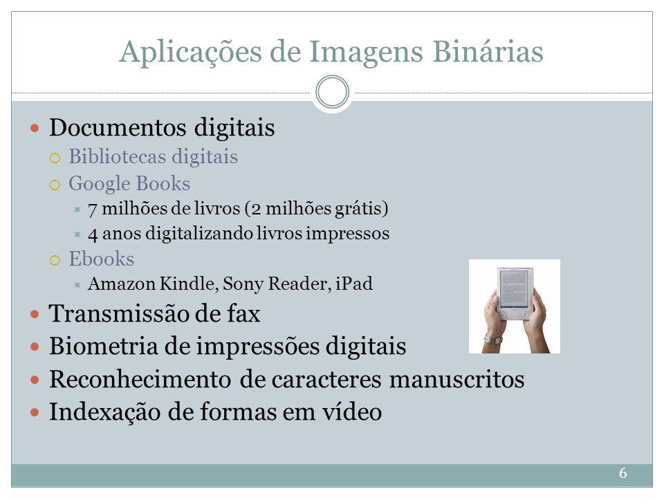 Aplicações de Imagens Binárias