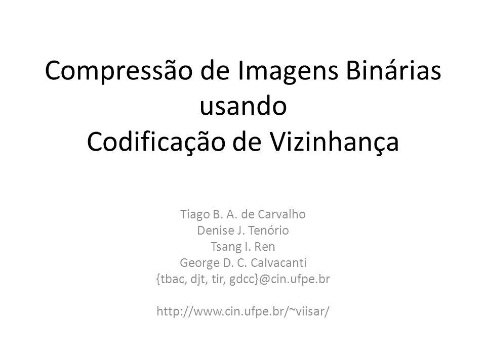 Compressão de Imagens Binárias usando Codificação de Vizinhança