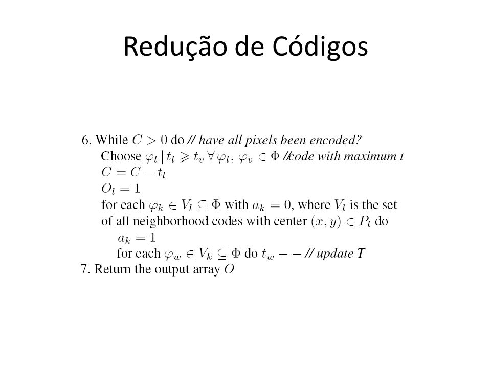 Redução de Códigos
