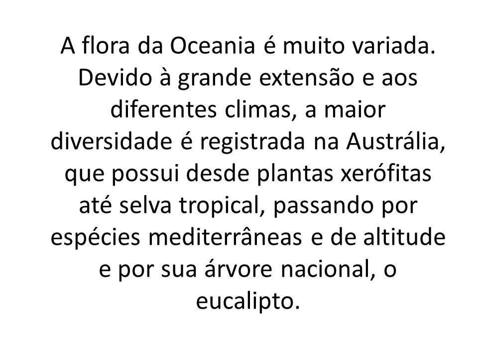 A flora da Oceania é muito variada