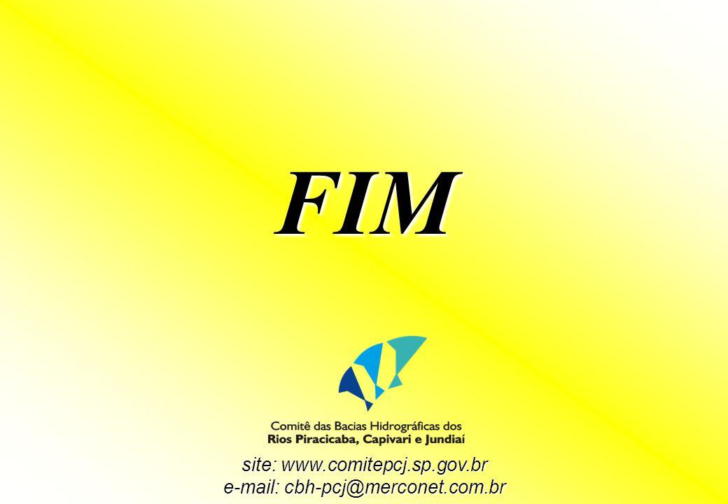 FIM site: www.comitepcj.sp.gov.br e-mail: cbh-pcj@merconet.com.br